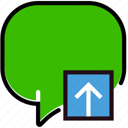 communication, conversation, interaction, interface, upload icon