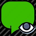 communication, conversation, hide, interaction, interface icon