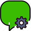 communication, conversation, interaction, interface, settings icon
