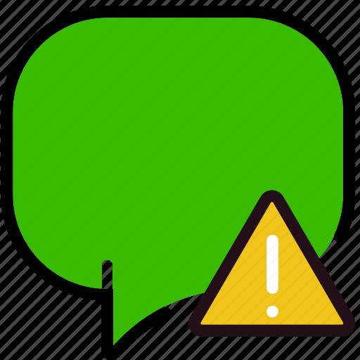 communication, conversation, interaction, interface, warning icon