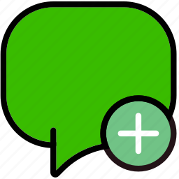 add, communication, conversation, interaction, interface icon