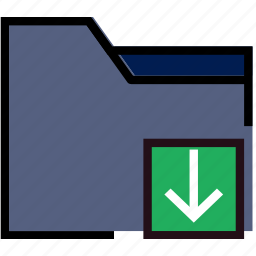 communication, download, folder, interaction, interface icon