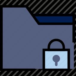 communication, folder, interaction, interface, lock icon