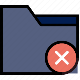 communication, delete, folder, interaction, interface icon