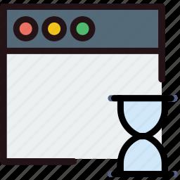 communication, interaction, interface, loading, window icon