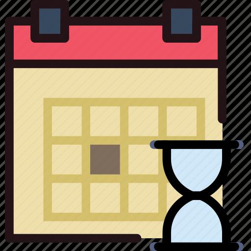 calendar, communication, interaction, interface, loading icon