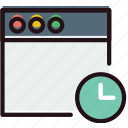 communication, for, interaction, interface, wait, window icon
