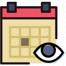 calendar, communication, hide, interaction, interface icon