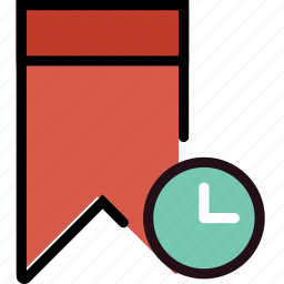 bookmark, communication, for, interaction, interface, wait icon