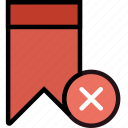 bookmark, communication, delete, interaction, interface icon