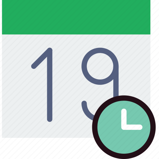 calendar, communication, for, interaction, interface, wait icon