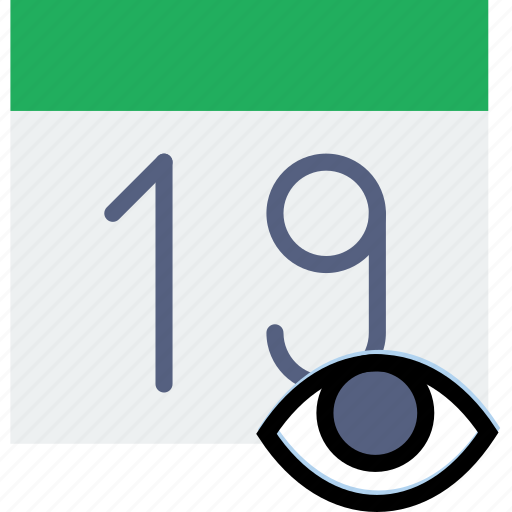 calendar, communication, hide, interaction, interface icon