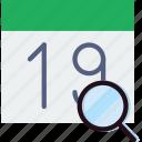 calendar, communication, interaction, interface, search