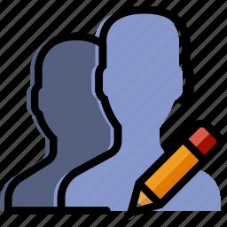 communication, edit, interaction, interface, profiles icon