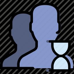 communication, interaction, interface, loading, profiles icon