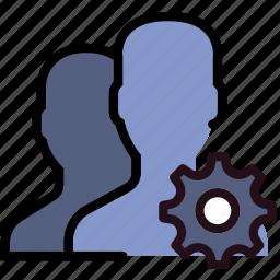 communication, interaction, interface, profiles, settings icon