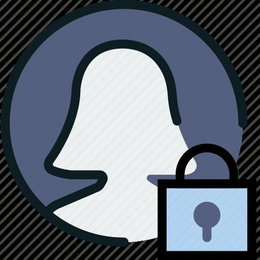 communication, interaction, interface, lock, profile icon