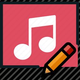 album, communication, edit, interaction, interface icon