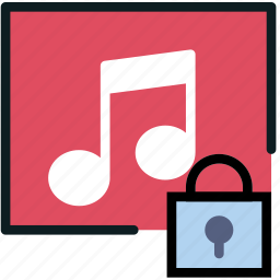 album, communication, interaction, interface, lock icon