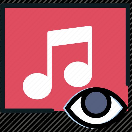 album, communication, hide, interaction, interface icon