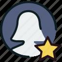 communication, favorite, interaction, interface, profile icon