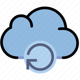 cloud, communication, interaction, interface, refresh icon