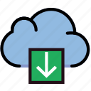cloud, communication, download, interaction, interface icon