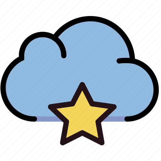 cloud, communication, favorite, interaction, interface icon
