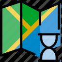 communication, interaction, interface, loading, map icon