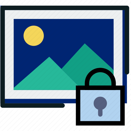 communication, interaction, interface, lock, picture icon