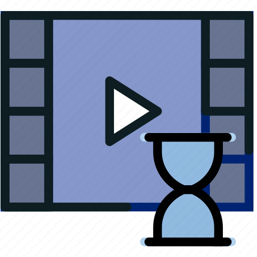 communication, interaction, interface, loading, video icon