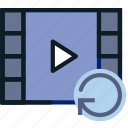 communication, interaction, interface, refresh, video icon
