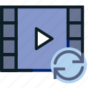 communication, interaction, interface, sync, video icon