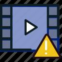 communication, interaction, interface, video, warning icon