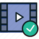 communication, interaction, interface, success, video icon