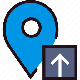 communication, interaction, interface, location, upload icon