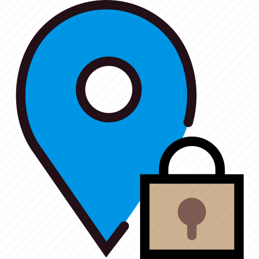communication, interaction, interface, location, lock icon