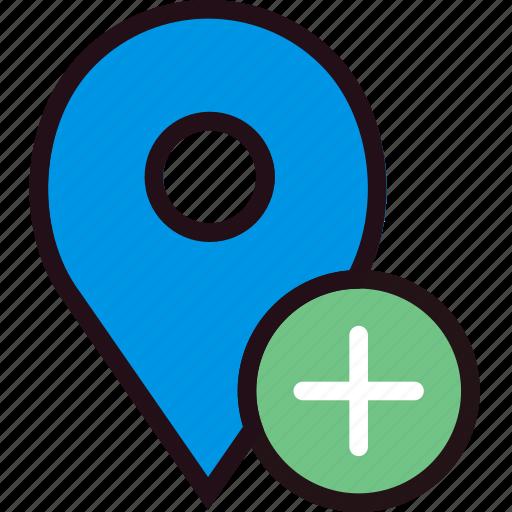 add, communication, interaction, interface, location icon