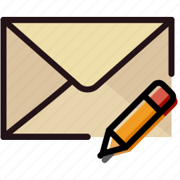 communication, edit, interaction, interface, mail icon