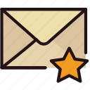 communication, favorite, interaction, interface, mail icon