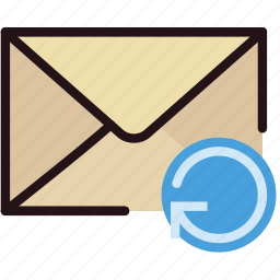 communication, interaction, interface, mail, refresh icon