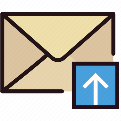 communication, interaction, interface, mail, upload icon