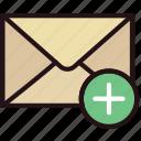 add, communication, interaction, interface, mail