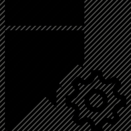 bookmark, communication, interaction, interface, settings icon