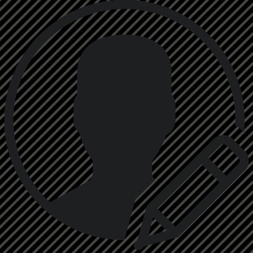 communication, edit, interaction, interface, profile icon