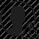 communication, interaction, interface, profile, warning icon