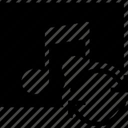 album, communication, interaction, interface, sync icon