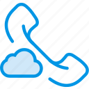 add, cloud, communication, interaction, interface, phonecall, to icon