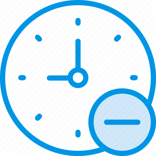 clock, communication, interaction, interface, substract icon