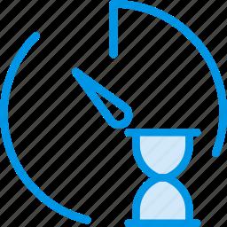 communication, interaction, interface, loading, stopwatch icon